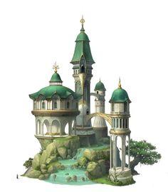 New landscape architecture illustration fantasy ideas Anime Art Fantasy, Fantasy Concept Art, Fantasy City, Fantasy Castle, Fantasy House, Fantasy Places, Fantasy World, Medieval Fantasy, Building Concept