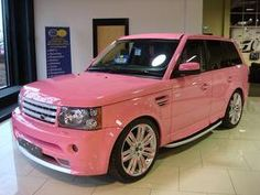 Pink Range Rover Sport