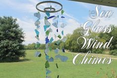 Sea Glass DIY Wind Chimes  Headed to the beach this weekend? Grab some sea glass & Seashells to make a cute wind chime :)
