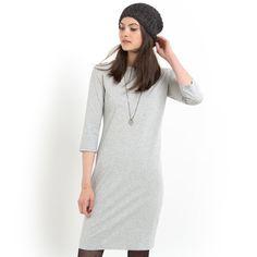 Vestido justo stretch, mangas 3/4, algodão,  Pequenos Preços   La Redoute