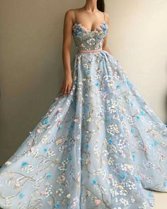 kleider Gorgeous Light Blue Long Embroidery Princess Prom Dresses For Teens,Modest Quinceanera Dresses,Beautiful Fashion Evening Dresses Floral Prom Dresses, Princess Prom Dresses, Prom Dresses For Teens, Cheap Prom Dresses, Quinceanera Dresses, Long Dresses, Elegant Dresses, Dresses Dresses, Dresses Online