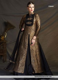 Buy online wide range of indo western. Order this Best Black Bridal Designer Indo Western Dress.