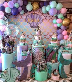 2 pcs Under The Sea & Little Mermaid Baby Shower Party Decorations - Roll It Baby Mermaid Party Decorations, Mermaid Parties, Birthday Party Decorations, Party Themes, Birthday Parties, Party Ideas, Party Favors, Birthday Ideas, Party Prizes