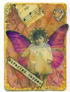 Beeswax Collage Artist Trading Card