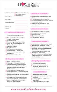 Der Termin für Ihre Hochzeit steht fest? Dann haben Sie noch jede Menge zu tun! Hier finden Sie alle nötigen Informationen für einen umfangreichen Hochzeitsplan, damit bei der Hochzeitsplanung ganz bestimmt nichts schiefgeht.