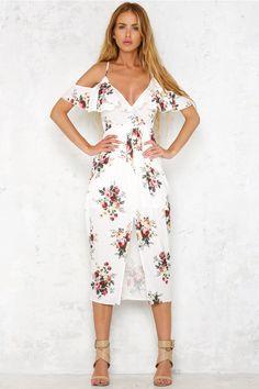 Sea Breeze Maxi Dress White