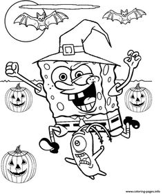 spongebob coloring pages halloween | free printable halloween activities for kids | Minion ...