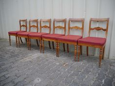 6 Biedermeier Stühle - Esche massiv - um 1830 Outdoor Furniture Sets, Outdoor Decor, Ebay, Home Decor, Homemade Home Decor, Decoration Home, Interior Decorating, Outdoor Furniture