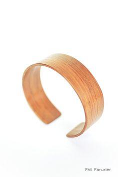 bracelet en bois : padouk wood bracelet padouk, wooden jewelry,  contemporary jewelery