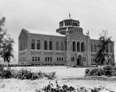 ucla's powell library in the snow, 1932