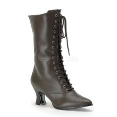 "Free Shipping. Buy VICTORIAN-120 2.75"" Middle Heel Women Victorian Pioneer Mid-Calf Boot at Walmart.com"