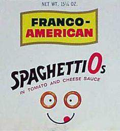 Franco-American Spaghetti-Os c. 1968 Frm bd: Vintage Products