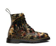 Martens Museum Collection Brings Art to Your Feet - bohemianizm Dr. Martens, Black Ankle Boots, Black Booties, Ankle Booties, Bootie Boots, Shoe Boots, Shoe Bag, Men's Boots, Renaissance Boots