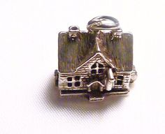 Vintage opening Nuvo sterling silver house charm / pendant - 1 only. via Etsy