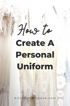 Save time, money and energy by creating a personal uniform for yourself. Pick something versatile and comfortable. Consider your routine and your needs, choose staples and add personality.