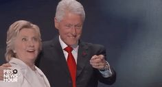 New trending GIF tagged omg shocked hillary clinton dnc...