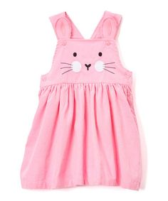 Look what I found on #zulily! Pink Corduroy Bunny Jumper - Infant, Toddler & Girls #zulilyfinds
