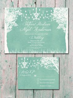 Digital Printable Files Mint In the Winter by WeddingSundaeShop, $25.00