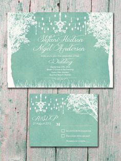 Digital  Printable Files  Mint  In the Winter by WeddingSundaeShop, $35.00