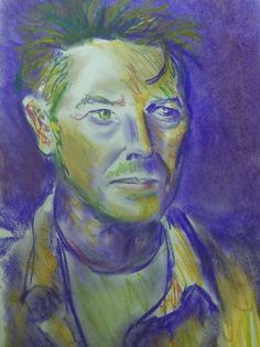 David Bowie pastel drawing