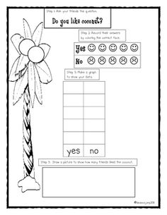 FREEBIE!!!  This is a fun activity to use as a follow up to Chicka, Chicka, Boom, Boom! Or with a five senses unit. Have your little sweeties do a coconut taste test and then collect and analyze data by surveying their friends.   Deanna Jump  K-12 Subject:Math  Grade Level(s): Kindergarten, 1st  Teaching Duration:30 Minutes  Type of Resource:Printables  # of Pages/Slides:2  $0.00