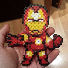Iron Man hama mini beads by saritalazarus