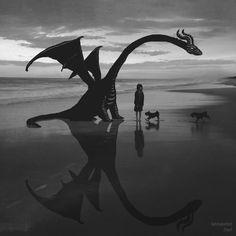 Dragon Beach Art Print