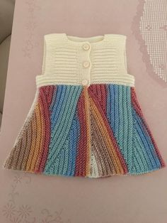 Şaşkın Yelek Modeli Knitting TechniquesKnitting For KidsCrochet Hair StylesCrochet Scarf Knitting For Kids, Baby Knitting Patterns, Knitting Designs, Crochet Cardigan, Crochet Shawl, Knit Crochet, Knit Baby Dress, Baby Pullover, Casual Chic Style