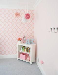 adesivos parede rosa bebe