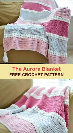 A fantastic blanket that combines many textures. It looks very impressive and beautiful. I wanted to show you this project and encourage you to crochet. Crochet Bobble Blanket Pattern, Knit Or Crochet, Baby Blanket Crochet, Crochet Baby, Free Crochet, Crochet Patterns, Double Crochet, Crochet Ideas, Crochet Projects