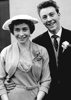 Stunning young bride Irene Barden shunned a white dress for her wedding to Jimmy Greaves in March 1958, opting instead for a smart belted beige dress and jacket, white gloves and a discreet white hat. The couple had met at a school youth club and were both just 18 when they wed at Romford register office in Essex. At the time, Greaves was playing for Chelsea FC, where he'd debuted a year earlier, earning £8 a week in winter and £7 a week in summer.
