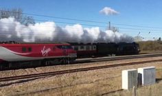 A TRAINSPOTTER drove 50 miles and waited nearly an hour to see the Flying Scotsman steam past today - only for it to be PHOTOBOMBED by another train...feb16
