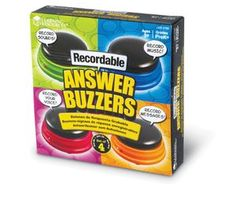 Learning Resources Recordable Answer Buzzers, Personalized Buzzers, Set of Ages Classroom Tools, Classroom Activities, Assistive Technology, Family Game Night, Student Engagement, Messages, Grad, Learning Resources, Jelly Beans