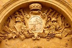 Arms of Grandmaster Anton Manoel de Vilhena over the gate to Mdina Malta