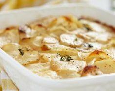 Gratin de pommes de terre minceur au fromage ail : http://www.fourchette-et-bikini.fr/recettes/recettes-minceur/gratin-de-pommes-de-terre-minceur-au-fromage-ail-fines-herbes.html