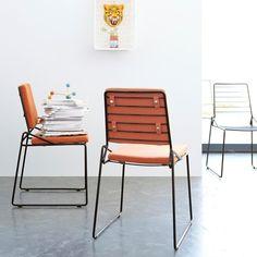 Chaise en métal Happy minéral