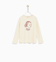 ZARA - COLLECTION SS/17 - EMBROIDERED GIRL PLUSH SWEATER