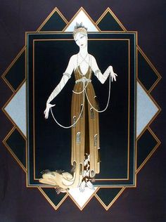 """Mark your calendars art deco fanatics -- next Friday and Saturday (November and a retrospective of limited-edition works by illustrator Erté is opening at Martin Lawrence Gallery in SoHo. Erté -- née Romain De Tirtoff --is known as """"the father of art deco Arte Art Deco, Art Deco Artists, Estilo Art Deco, Art Deco Illustration, Belle Epoque, Erte Art, Romain De Tirtoff, Art Deco Stil, Kunst Poster"""
