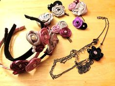 Flower accessories! shanmade for you! on etsy :)