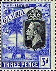 Gambia 1922 King George V Elephant SG SG 128 Fine Mint SG 128 Scott 107 Other British Commonwealth Stamps Here