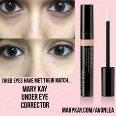 The new Mary Kay Under Eye Corrector is a total game changer for tired eyes! Under eye bags and circles, you have met your match! This stuff is Amazing! Contact me at marykay.com/kmcculley