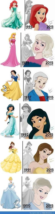 What Disney Princesses Would Look Like Today! It's kind of weird to see this! What if Disney made a movie with all the princesses NOW? Humour Disney, Funny Disney Memes, Disney Jokes, Disney Facts, Funny Memes, Funny Facts, Funny Cartoons, Funny Quotes, Disney Cartoons