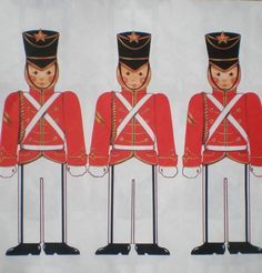 Toy soldiers wrapping paper