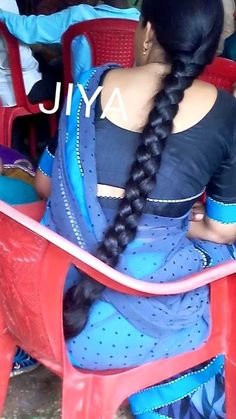 Slick Hairstyles, Plaits Hairstyles, Indian Hairstyles, Straight Hairstyles, Girl Hairstyles, Beautiful Braids, Beautiful Long Hair, Hair Plaits, Indian Braids