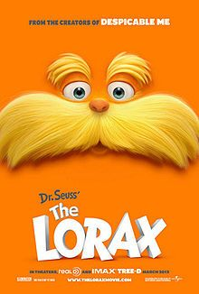 Theatrical poster for The Lorax. Check out my review at the link!