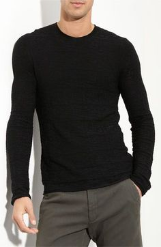Armani, plain black long sleeve. guys underestimate the sex appeal of a plain simple black long sleeve.