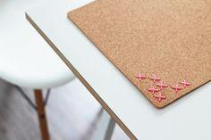 Stitched cork tablets by Bambula blog