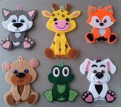 Educational games from felt - Felt Animal Patterns, Quiet Book Patterns, Stuffed Animal Patterns, Felt Crafts Diy, Foam Crafts, Felt Diy, Felt Puppets, Felt Finger Puppets, Felt Bookmark