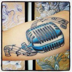 Music tattoo by Bruno Lança.