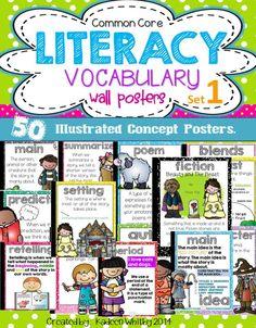 Common Core Concept Vocabulary Posters.